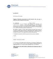MODULO PER RICHIEDERE ALLACCIAMENTO A ITALGAS - VALCANNETO