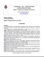 Ordinanza Balneare 2019