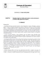 ORDINANZA DEL SINDACO n. 15 del 19/02/2018