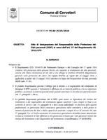 ORDINANZA DEL SINDACO n. 55 del 25/05/2018