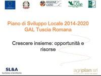 Preparazione Piano di Sviluppo Locale 2014-2020 da parte del GAL