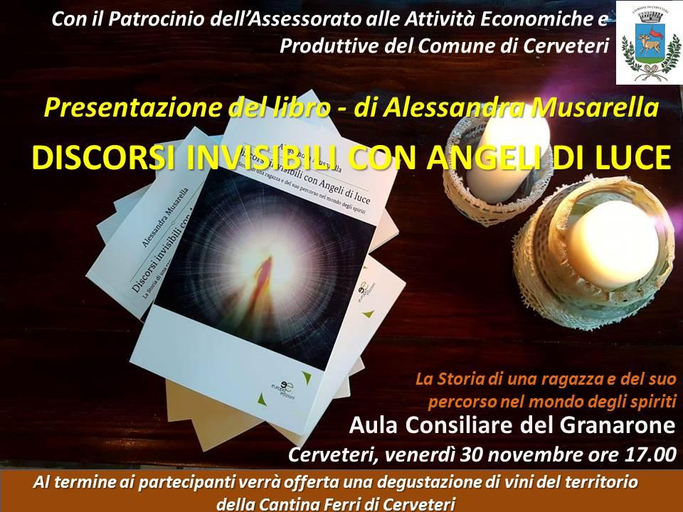 """Presentazione del libro """"Discorsi invisibili con Angeli di Luce"""""""