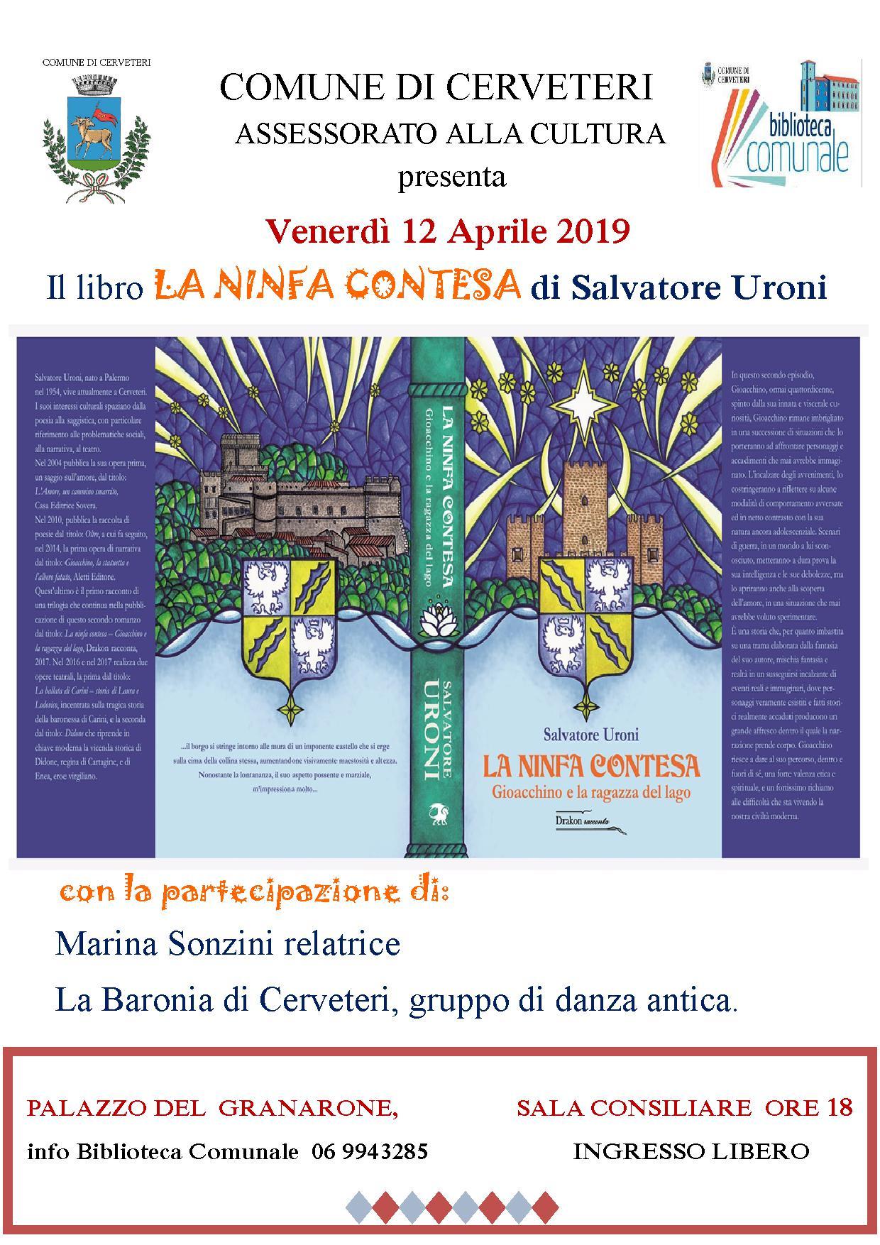 """Presentazione del libro """"LA NINFA CONTESA"""" di Salvatore Uroni"""