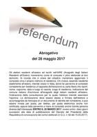 Referendum abrogativo del 28/05/2017 - Opzione degli elettori residenti all'estero per esercitare il voto in Italia - SCADENZA 25/03/2017