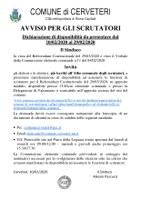 REFERENDUM COSTITUZIONALE DEL 29/03/2020 - AVVISO PER GLI SCRUTATORI