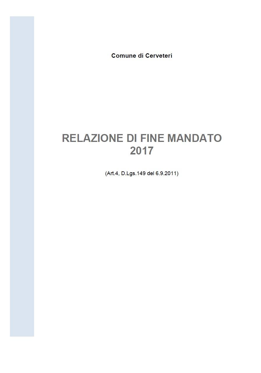 Relazione di Fine Mandato 2012/2017 (art. 4, D.lgs. n. 149/2011)