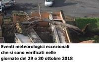 Richiesta contributo per eventi meteorologici eccezionali che si sono verificati nelle giornate del 29 e 30 ottobre 2018