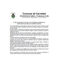 RICHIESTA DI RISARCIMENTO PER DANNI CAUSATI DA CALAMITÀ NATURALE