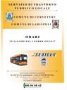 Servizio Trasporto Pubblico Locale: ORARI INVERNALI 2016/2017
