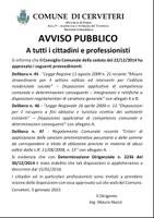 Servizio Urbanistica - AVVISO approvazione delibere