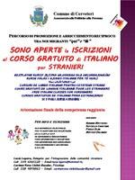 SONO APERTE LE ISCRIZIONI AL CORSO GRATUITO DI ITALIANO PER STRANIERI