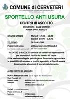 SPORTELLO INTERCOMUNALE ANTIUSURA