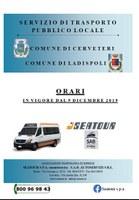 NUOVI ORARI TRASPORTO PUBBLICO LOCALE IN VIGORE DAL 9 DICEMBRE 2019