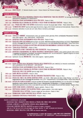 Programma Sagra 2015